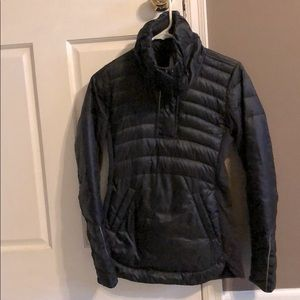 Black Lululemon Quarter Zip Puffer Jacket Coat